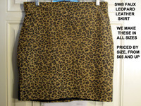 Faux Baby Leopard Leather Skirt