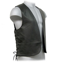 Lace Up leather Bar Vest