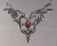 DragonHeart Necklace with Red Stone