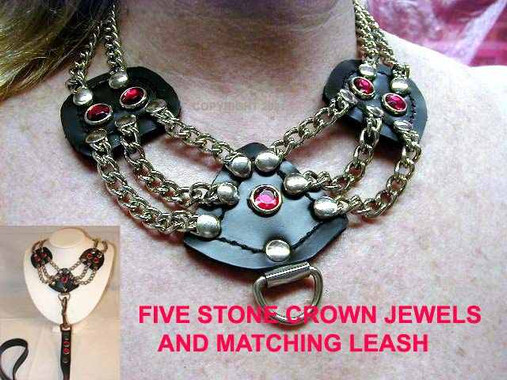 Regular 5 Stone Crown Jewels Necklace or Collar, depending on how it's made. (Dominant, Switchable, or Slave)