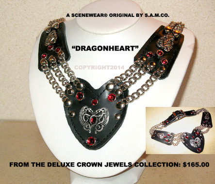 SceneWear ® Dragon Heart Collar / Neckpiece
