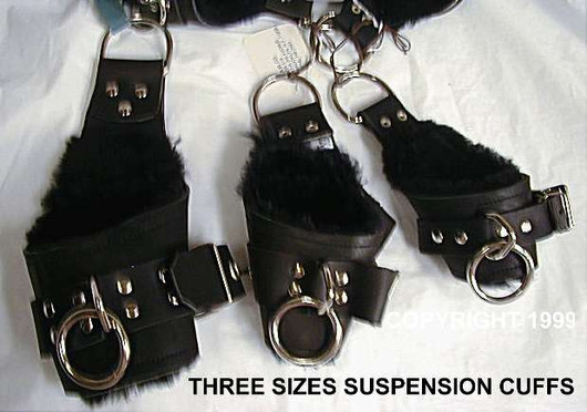 Size 1, 2 and 3  Ergonomic / Suspension Cuffs.. ( 1 for most women's Wrists, 2 for large wrists and small ankles, 3 is the largest size)