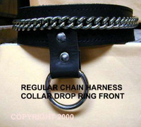 Harness Collar with Chain and  One O-Ring  Dropped in Front