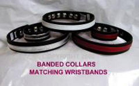 Banded Collars can have a variety of Overlays, and You can get a matching Wristband