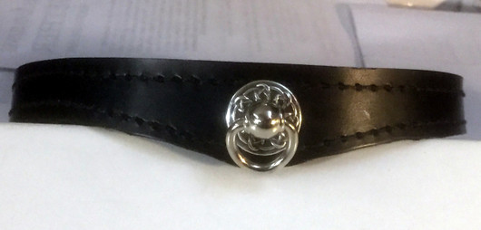 Simply Slave Collar Slave Version with Celtic Ring, and Post and D-ring