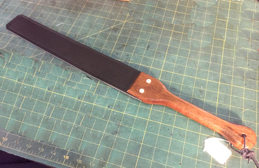 """2.5"""" Slapper with Wooden Handle ( Corian is most likely not available for a handle this large)"""