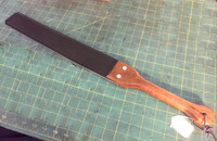 "2.5"" Slapper with Wooden Handle ( Corian is most likely not available for a handle this large)"