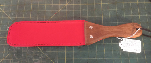 SW Ping Pong Paddle with Red Leather and Medium Wood Handle