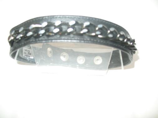 "Black Filed Chain 1"" Collar"