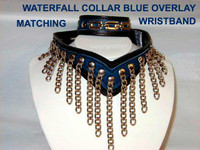 Waterfall Collar with Overlay ( has matching Wristband)