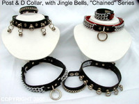 Post & D Collar, Chained Series, Jingle Bell Collars