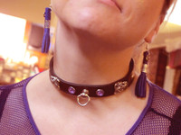 Stone Flourish Collar ( This one is purple) Matching Accessories Available