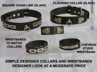 "1"" Collar with Variations and Matching Wristbands"