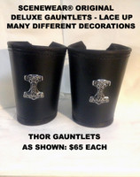 Thor Gaunlets - Lined, with Turned and Stitched Edges (priced per  Gauntlet) Many  Other Decorations Available.
