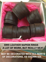 Leather Napkin Rings by SceneWear® (Available in many colors, may have decorations)