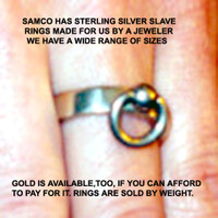 Slave Rings in Solid Sterling Silver ( Priced by weight)