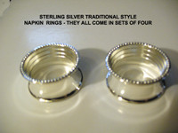 Sterling Silver Napkin Rings ( Ltd Quantities)