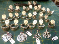 Assorted Silver Rings at a range of prices