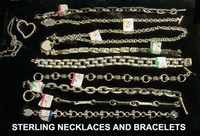 Sterling Necklaces and Bracelets (Prices Vary Widely, check for availability)