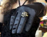 The Rose Ring- for the Lifestyle Woman ( Antiqued or Bright Silver)