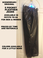 SceneWear® Original  Custom Made Leather Pants for Men or Women, prices vary