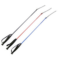30 Inch Riding Whip: Black, Red and Blue