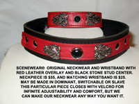 Red and Black Collar  with Flourishes