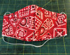 """Biker"" Weight Red Bandanna Mask, special construction for easy breathing."