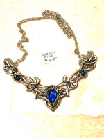 Lorien Pewter Necklace, Blue Stones