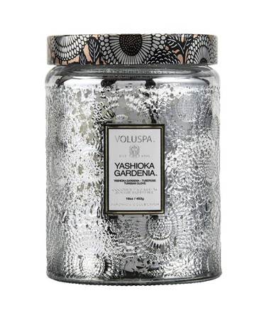 Voluspa Yashioka Gardenia Large Embossed Jar Candle