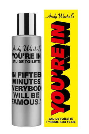 "Comme des Garcons, Andy Warhol's- You're in.  ""In Fifteen Minutes..."" EDT"