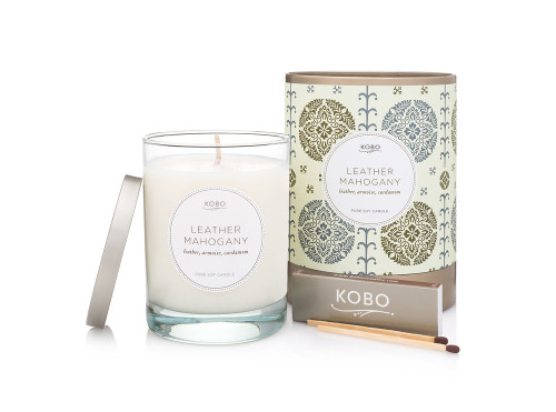KOBO Motif - LEATHER MAHOGANY - Candle