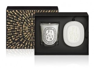 Diptyque Holiday Figuier Candle & Scented Oval Set
