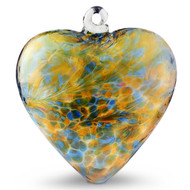 Large Heart Aqua / Gold