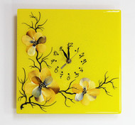 Blossoms Clock (yellow)