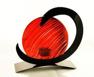 Neutron Tealight Candle Holder  (Red)