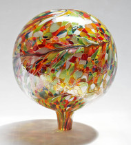 "Glass Gazing Ball ""Multicolor II"" 12 Inch (color outside)"