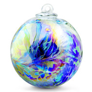 "XXL Witch Ball ""Hyacinth"" Iridized 10 Inch"