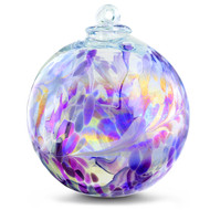 "XXL Witch Ball ""Lavender Lilly"" Iridized 10 Inch"