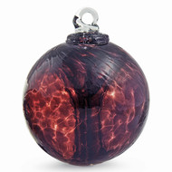 "Small Witch Ball ""Aubergine"""