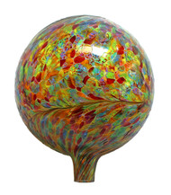 "Glass Gazing Ball ""Multicolor"" 12 Inch"