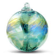 Witch Ball Iridescent Emerald