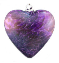 """Large Heart """"Violet and Lavender"""" Iridized"""