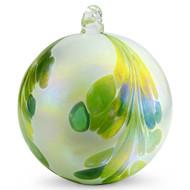 Crested Kugel Jade Green / White Iridized