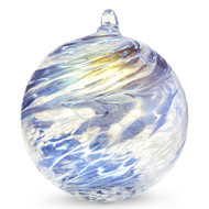 "Friendship Ball ""Steel Blue"" 4 Inch Kugel Iridized"