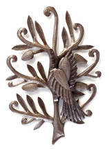 metal bird wall art handmade in Haiti