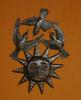 sun with birds Haiti Metal Art