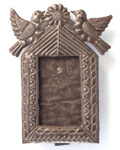 small Metal Frame from Haiti, birds, recycle art