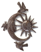 Sun and Moon Haiti Metal Wall Art
