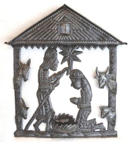 Haiti metal nativity Fair Trade Federation Metal Art